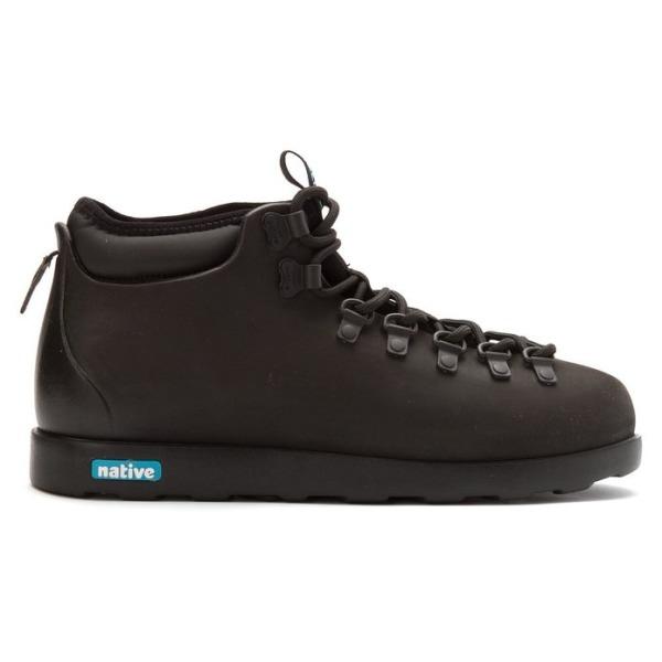 Native Fitzsimmons Unisex Boots, Jiffy Black/Jiffy Black