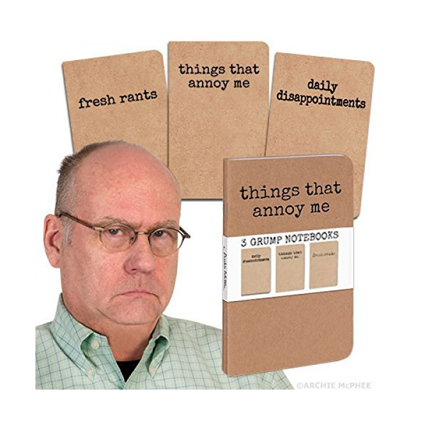 3 Grump Notebooks - Things That Annoy Me