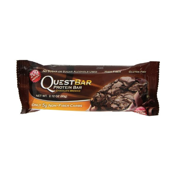 Quest Nutrition Protein Bars, Chocolate Brownie, 2.12 Oz, 12 Count