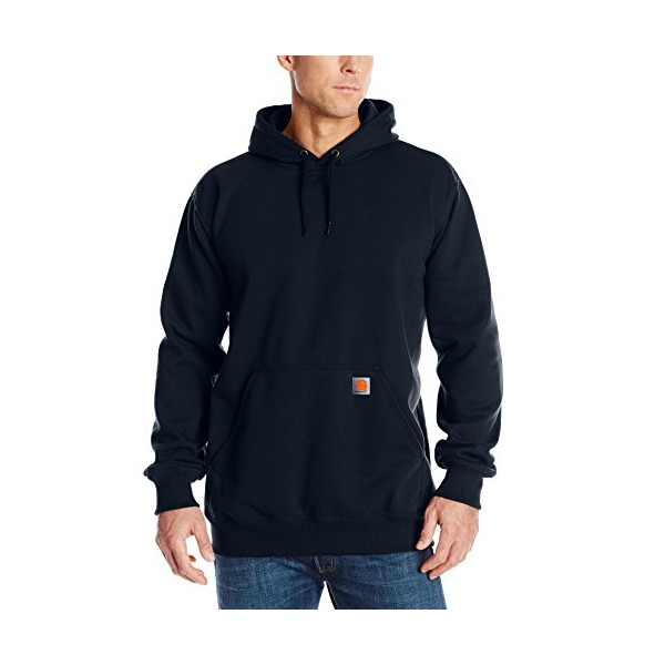 Carhartt Men's Big & Tall Rain Defender Paxton Heavyweight Hooded Sweatshirt,New Navy,X-Large Tall