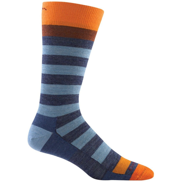 Darn Tough Merino Wool Warlock Crew Light Sock - Men's Denim/Vapor Medium