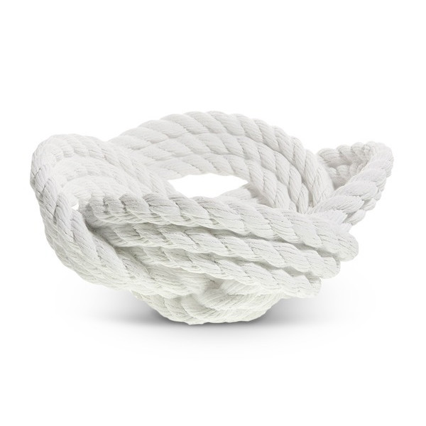 Areaware Knotted Rope Bowl, White