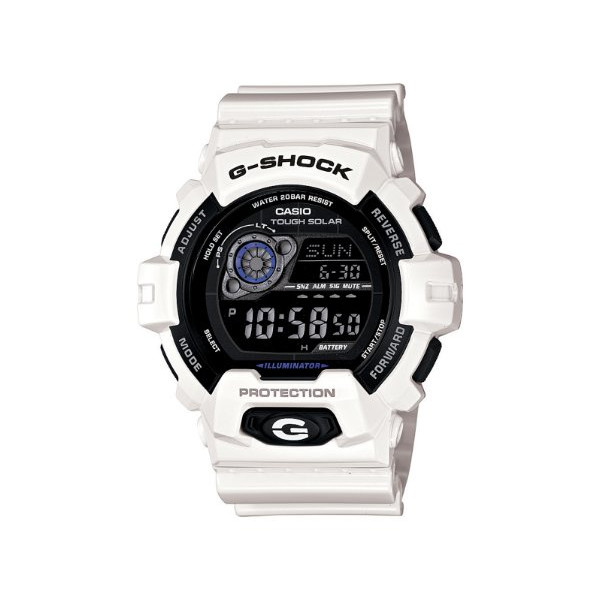 Casio Men's GR8900A-7 G-Shock Tough Solar Digital White Resin Sport Watch