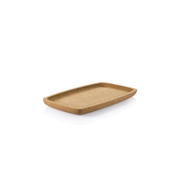 Bambu 10-Inch L by 6-Inch W Large Cork Appetizer Tray, Natural