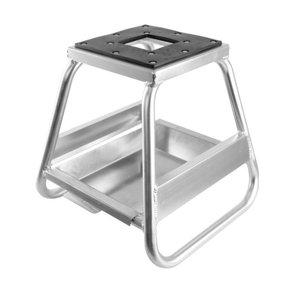 Polished Aluminum MX Motocross Dirt Bike Lift & Stand with Removable Oil Pan