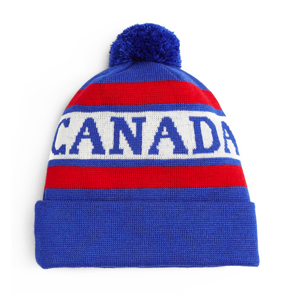 Canada Goose Knit Logo Pom Toque, Red/White/Blue