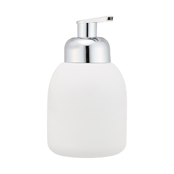 WENKO 20089100 Foaming pump Bottle White - soap dispenser, capacity 0.11 gal, Soft-Touch ceramic, 3.3 x 6.3 x 3.3 inch, White