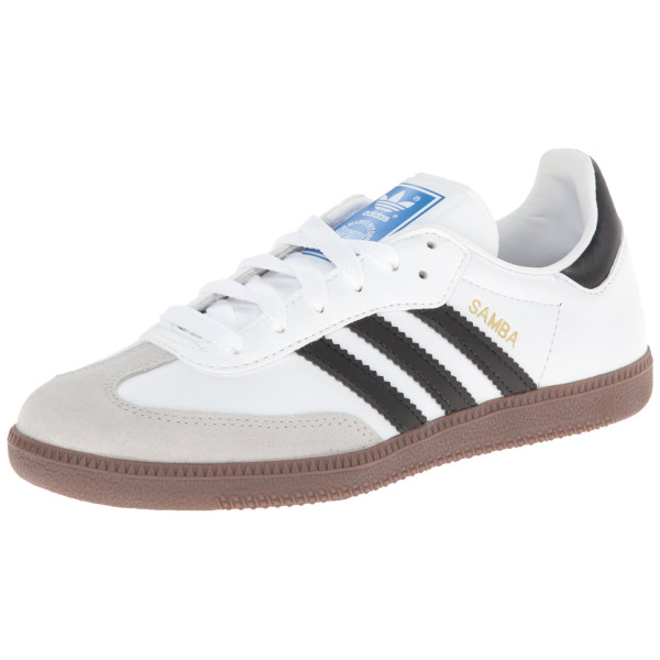 adidas Originals Men's Samba Fashion Sneaker,White/Black,14 D US
