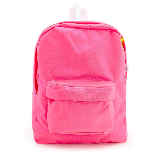 American Apparel Nylon Cordura School Bag, Neon Pink