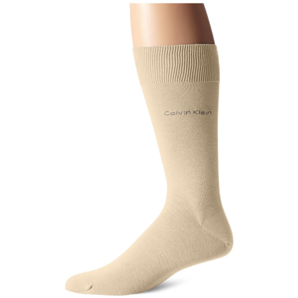 Calvin Klein Men's Egyptian Cotton Dress Socks, Limestone