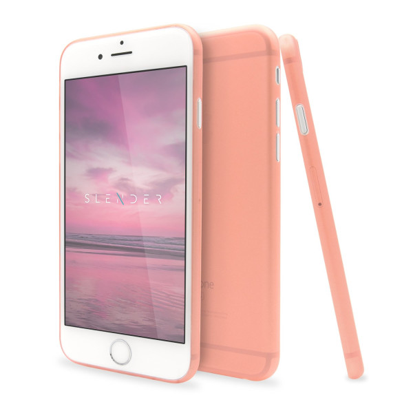 SlenderCase for iPhone 6 Plus, 6S Plus Phone Case (5.5-Inch) Extra Thin Clear Hard Shell, Camera Protection And 360 Degree Side Coverage (Rosy Pink)