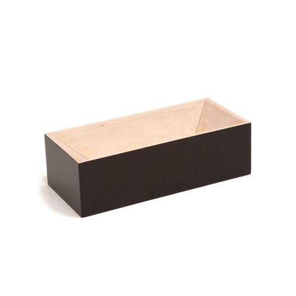 Les Briques Wooden Storage Box - Black