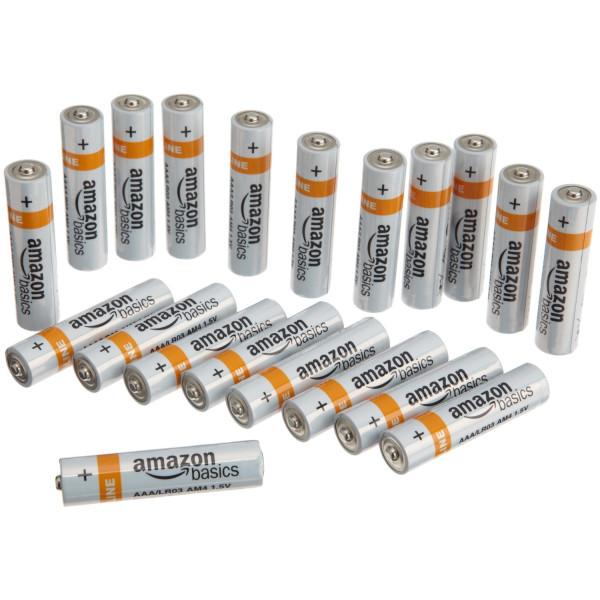 AmazonBasics AAA Alkaline Batteries (20-Pack)