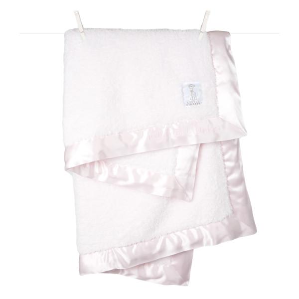 "Little Giraffe Chenille Blanket, 29"" X 35"", Pink"