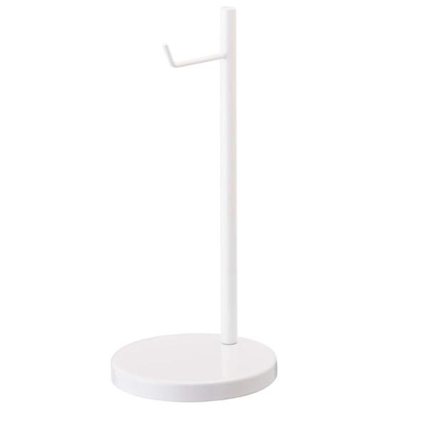YAMAZAKI Home Bautes Round Headphone Stand, White