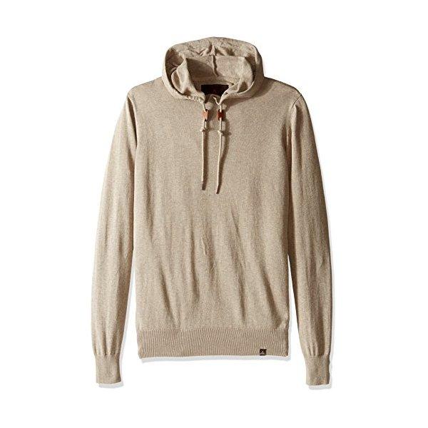 prAna Men's Throw-On Hooded Sweater, Large, Dark Khaki