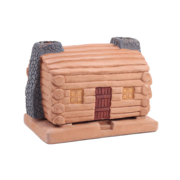 Log Cabin Incense Burner with Seven Scent Sampler + Bonus Pinon