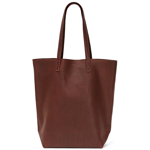 BAGGU Leather Basic Tote, Molasses