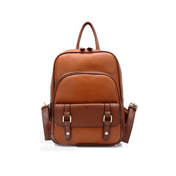Imixlot Women's Preppy & Casual Style Brown Backpack School Student Schoolbag PU Leather Shoulder Bag Satchel Travel Outdoor Bags