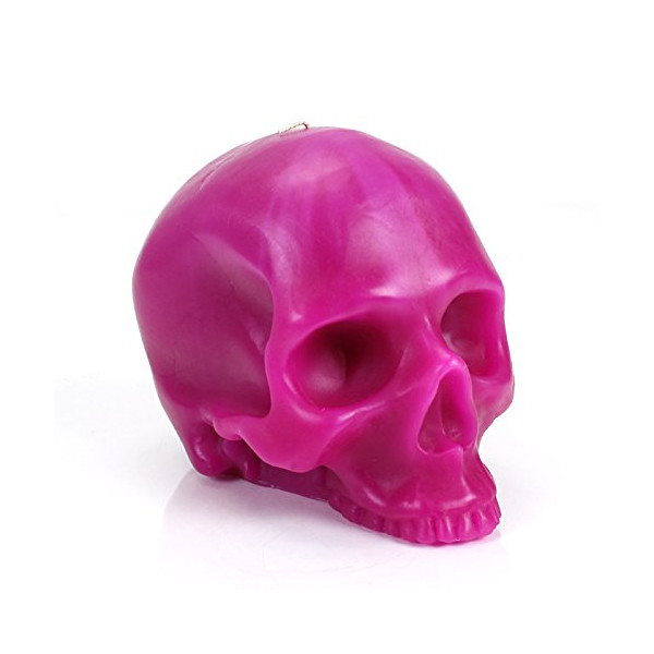 Skull Candle by D.L. & Company (Pink, Medium)