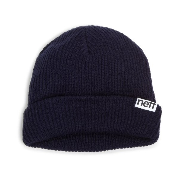 neff Men's Fold Beanie, Navy, One Size