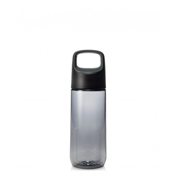 KOR Aura BPA Free Water Bottle, 500ml, Anthracite Black