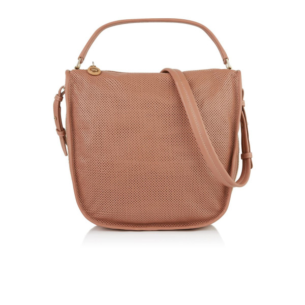 See by Chloe Bluebell Perforated Hobo Bag, Nougat