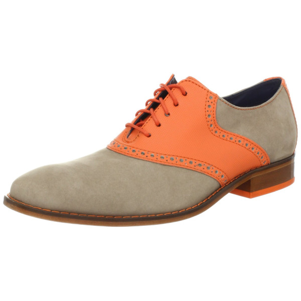 Cole Haan Men's Air Colton Saddle OxfordGinger Snap Nubuck/Corporate Orange6.5 W US