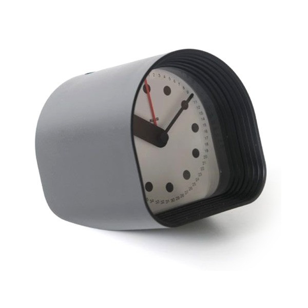 Alessi Optic Table Alarm Clock Black 3.25""