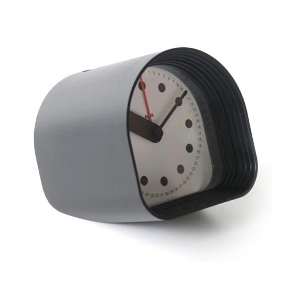 """Alessi Optic Table Alarm Clock Black 3.25"""""""