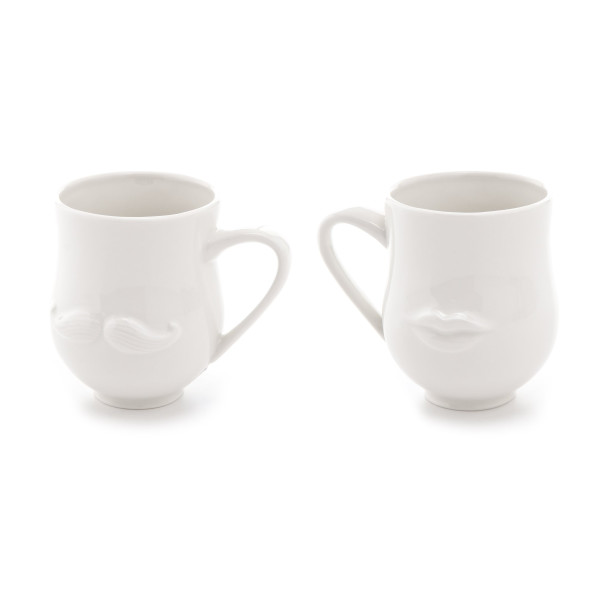 Jonathan Adler Mr. & Mrs. Muse Mug, White