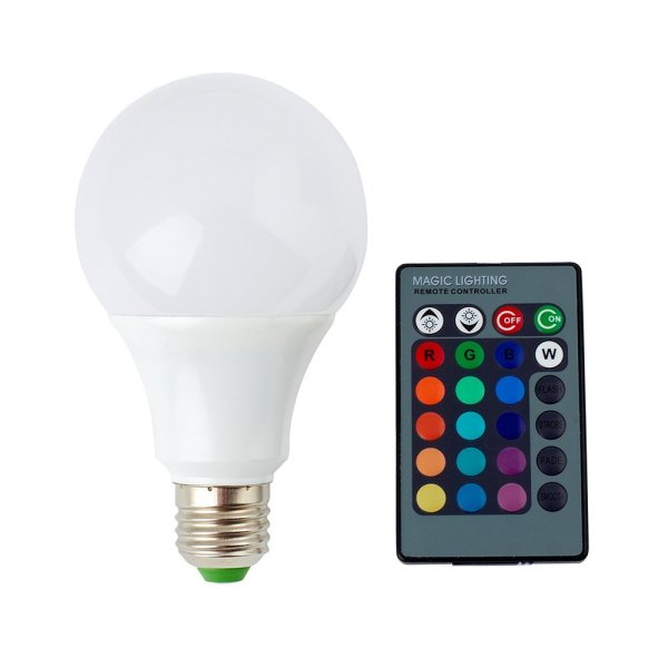 SUPERNIGHT E27/E26 9W RGB LED Light Bulb 16 Colors Changing Dimmable Multi Color LED Light with IR Remote Control for Home Decoration/Bar/Party/KTV Mood Lighting