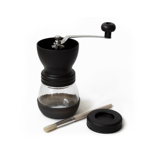 Tanors Manual Ceramic Burr Coffee Grinder Mill, Includes Brush (Black)