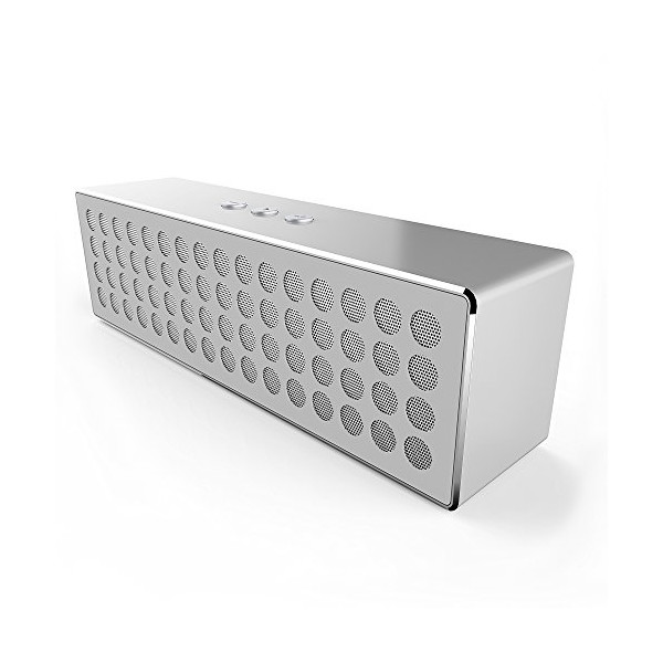 DAHLtronics ionWave Portable Rechargeable Bluetooth Stereo Speaker, Double Strong Speakers with Powerful Passive Bass, Built-in Mic for Handsfree Calls, NFC Support, 10 Hours Rechargeable Battery, HD Sound, Lightweight and Stylish [Aluminum Alloy Material