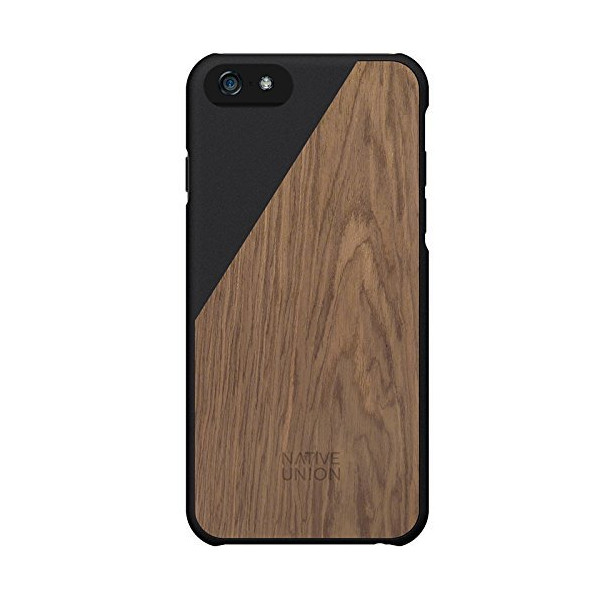 Native Union CLIC Wooden case for iPhone 6 - Handcrafted Real Wood Protective Slim Case Cover (Black)