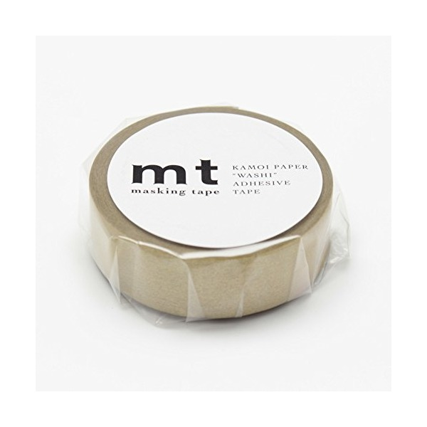 "MT Solids Washi Paper Masking Tape, 3/5"" x 11 yd, Gold (MT01P205)"