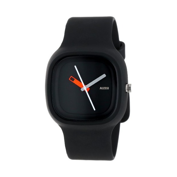 Alessi Men's AL10010 Kaj Polyurethane Black Designed by Karim Rashid Watch
