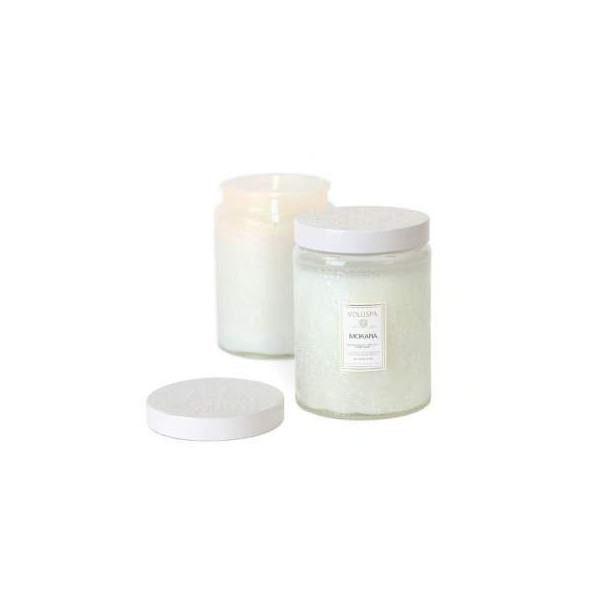 Voluspa Mokara Large Embossed Glass Jar Candle 16 oz