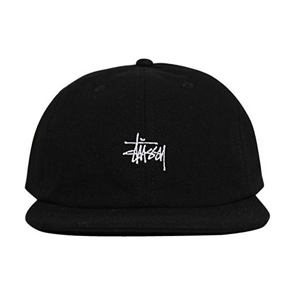 Stussy Mens Stock Stretchback Adjustable Hat/Cap One Size Black