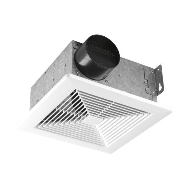 Progress Lighting PV001-30 50 CFM Bath Fan with Sound Level Rating At 4.0 Sones, Textured White