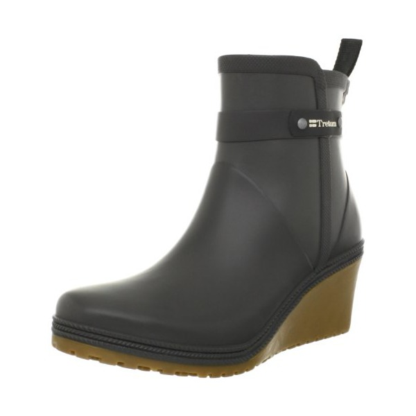 Tretorn Women's Plask Mid Rain Boot,Gunmetal,35 EU/4 B US