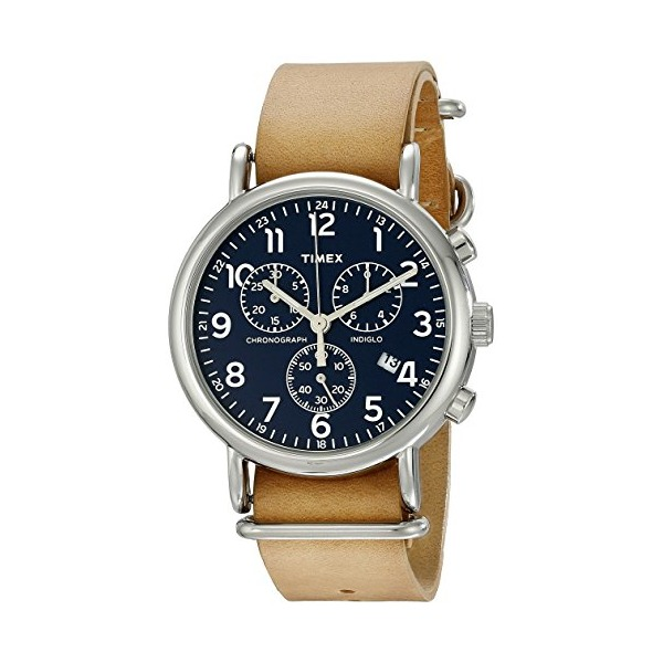 Timex Unisex TW2P623009J Weekender Forty Analog Display Analog Quartz Brown Watch