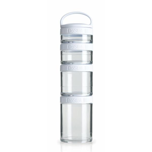 Blender Bottle 4-Piece GoStak Twist n' Lock Storage Jars Starter Pack, White
