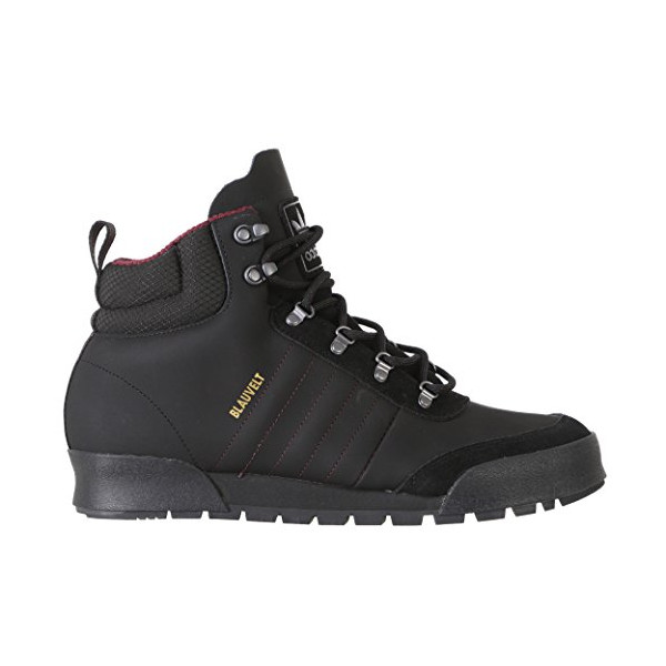 adidas Men's Jake Boot 2.0: High Top (Core Black/Maroon/DGH Solid Grey, Size 10.5)