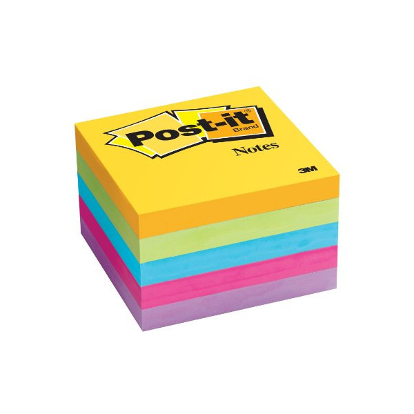 "Post-It Notes 654-5UC 3"" x 3"", Five 100-Sheet Pads - Ultra Colors"