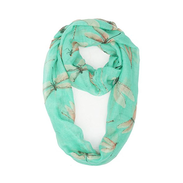 Vivian & Vincent® Soft Light Weight Dragonfly Sheer Scarf Shawl (Spring Green)