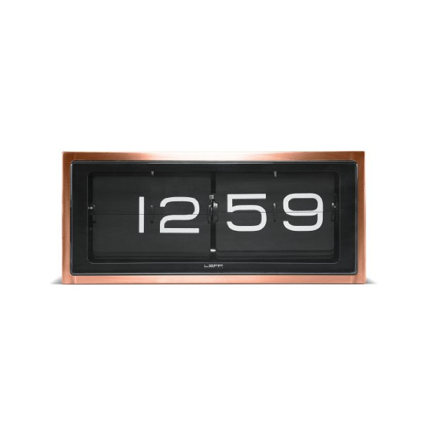 wall/desk clock brick copper 24h black