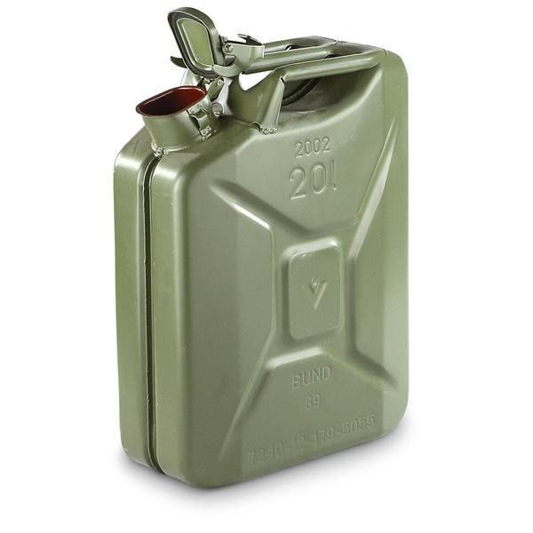 "NATO ""Jerry"" 20 Liter Steel Fuel Cans"