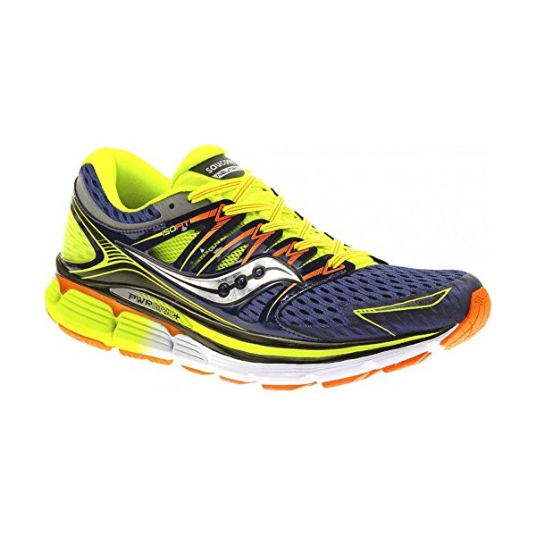 Saucony Men's Triumph-ISO Series Running Shoe,Blue/Citron/Vizi Orange,11 M US