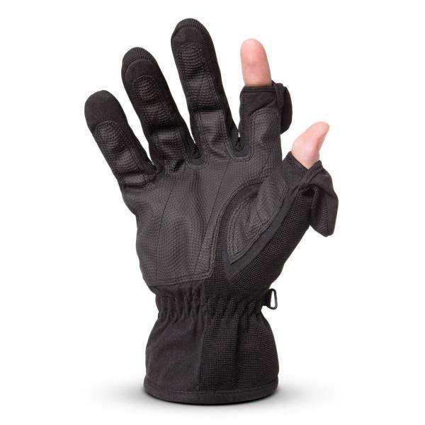 Freehands Mens Stretch Gloves, Black